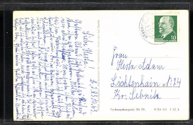 AK Herrnhut / Oberlausitz, Kirchensaal, Eckfassade 1
