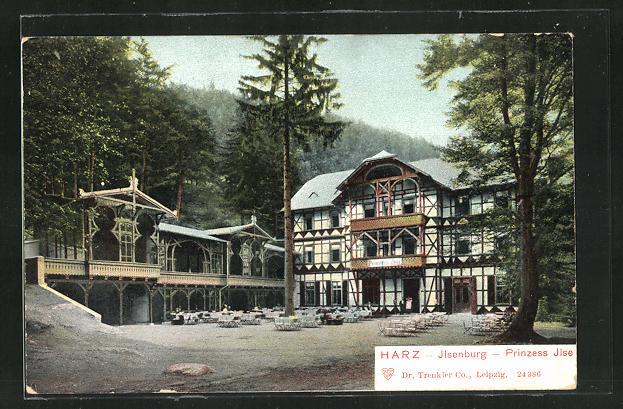 AK Ilsenburg / Harz, Hotel Prinzess Ilse mit Aussenrestauration 0