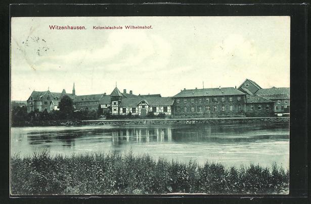 AK Witzenhausen, Kolonialschule Wilhelmshof von Uferseite aus gesehen 0
