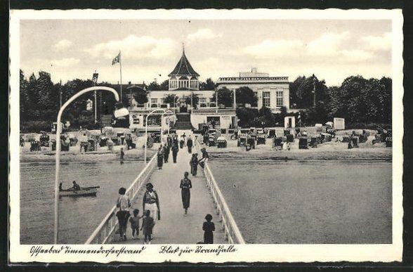 AK Timmendorferstrand, Cafe zur Strandhalle mit n 0