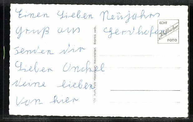 AK Gersthofen, Blick auf Rathaus, Bahnhofstrasse, Hauptstrasse, Pestalozzistrasse, Frühlingstrasse und Pfarrkirche 1