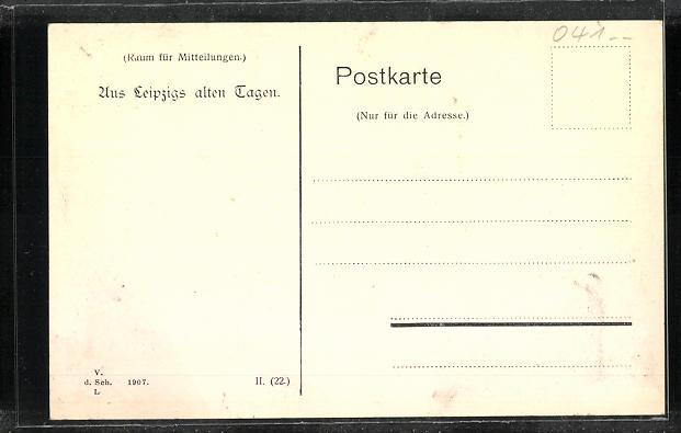 AK Leipzig, Barfussmühle am Fleischerplatz 1