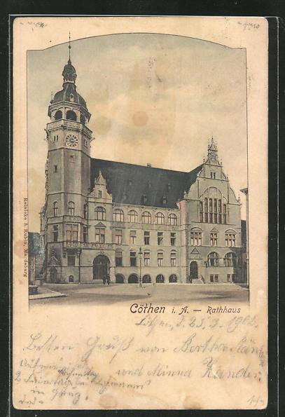 AK Cöthen i. A., Blick zum Rathaus 0