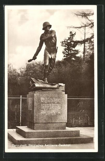 AK Darmstadt, Hessisches Artillerie-Denkmal 0