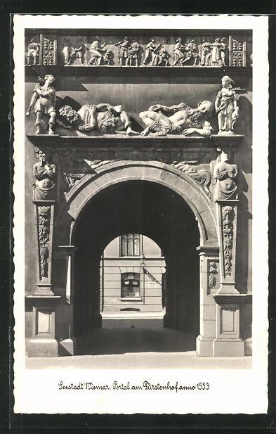 AK Wismar, Portal am Fürstenhof anno 1553 0