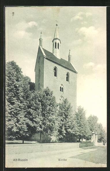 AK Alt-Ruppin, Blick zur Kirche 0