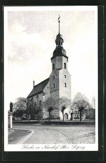 AK Naunhof, Partie mit Kirche 0