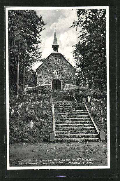 AK Weschnitz / Odenwald, St. Walpurgiskapelle 0