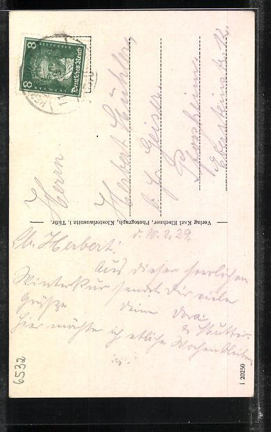 AK Klosterlausnitz / Thür., Gasthof Friedrichshof, Sanatorium, Weinschenke, Rathaus 1