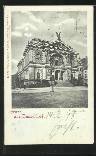 Mondschein-AK Düsseldorf, Kunsthalle 0