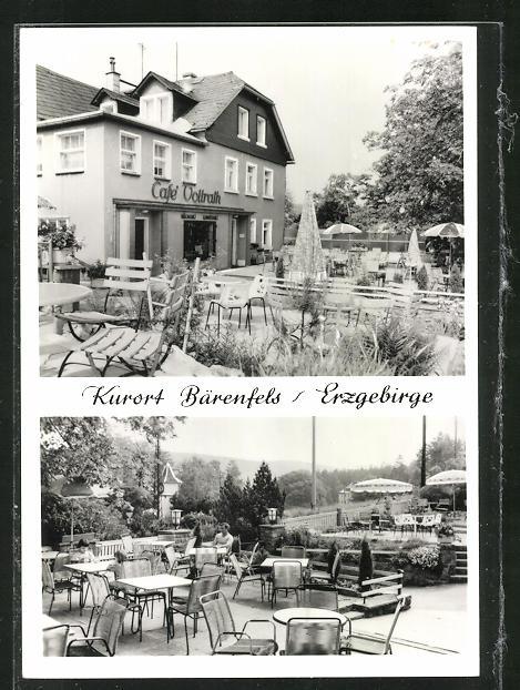 AK Bärenfels / Erzgebirge, Cafe Vollrath, Gartenansicht 0