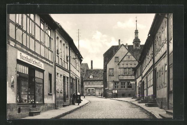 AK Kelbra / Kyffh., Marktstrasse mit Geschäft von Bernhard Schnelle 0