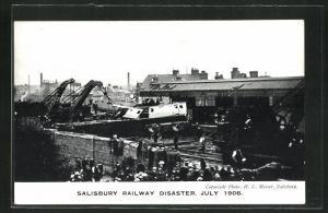 AK Salisbury, Railway Disaster, July 1906, Eisenbahnkatastrophe