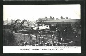 AK Salisbury, Eisenbahnkatastrophe, Railway Disaster, July 1906