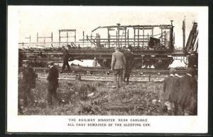 AK Quintinshill, Railway Disaster near Carlisle, All that remained of the sleeping car, Eisenbahnkatastrophe