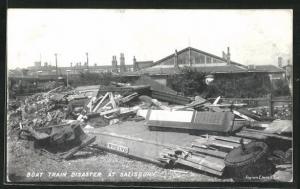 AK Salisbury, Boat Train Disaster, Eisenbahnkatastrophe