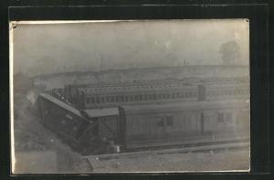 Foto-AK Eisenbahnkatastrophe von Bahn No. 5191