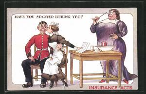 AK Insurance Acts, Have you started licking yet?, Soldat in Uniform mit Dienstmädchen
