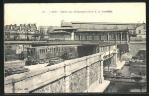 AK Paris, Gare du Métropolitain à la Bastille, U-Bahn-Station an der Bastille