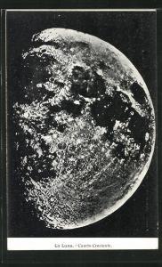 AK La Luna, Cuarto Creciente, Nahaufnahme des Mondes