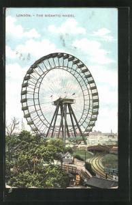 Künstler-AK London, the Gigantic Whell, Volksfest mit Riesenrad