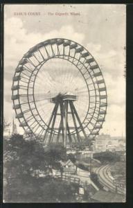 AK Earl's Court, the Gigantic Wheel, Blick auf ein Riesenrad