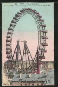 AK Paris, La Grande Roue, Blick auf ein Riesenrad