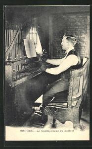 AK Bruges, Le Carillonneur du Beffroi, Orgelspieler