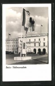 AK Berlin, Thälmannplatz mit Gebäude der Nationalen Front
