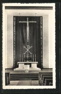 AK Karl-Marx-Stadt, Altar in der Kreuzkirche