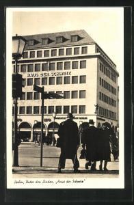 AK Berlin, Haus der Schweiz, Unter den Linden