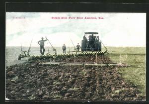 AK steam disc plow near Amarilla, Texas