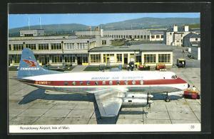 AK Isle of Man, Ronaldsway Airport, Flugzeug British Air Services am Flughafen