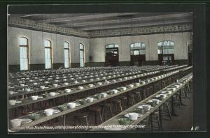 AK Jackson, MI, State Prison, interior, view of dining room, Gefängnis