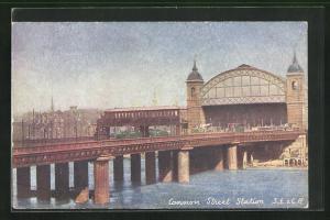 AK London, Cannon Street Station, Bahnhof