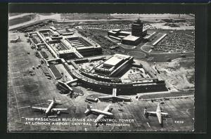 AK London, Airport, Passenger Building and Control Tower, Flughafen