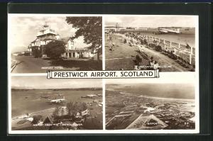 AK Prestwick, Airport, Hotel, View from the Control Tower, Spectators, Flughafen