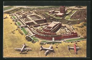 AK London, London Airport Central, Passenger Building and Control Tower, Flughafen