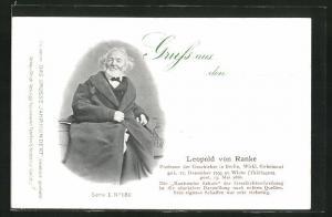 AK Berlin, Portrait von Leopold von Ranke, Professor der Geschichte, Wirkl. Geheimrat, 1795-1886