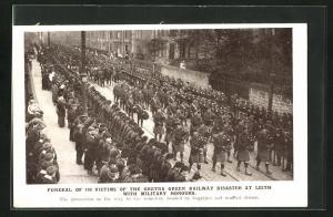 AK Leith, Funeral of 100 Victims of the Gretna Green Railway Desaster..., Eisenbahnkatastrophe