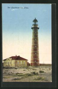 AK Libau, Motiv vom Leuchtturm
