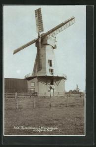 Foto-AK Willesborough, The Old Windmill, Windmühle