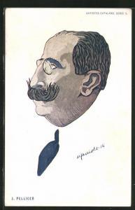 AK Portrait des Malers J. Pellicer