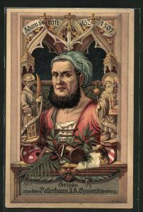 AK Nürnberg, Albrecht Dürer, Pellerhaus J.A. Eysser, Adam Kraft