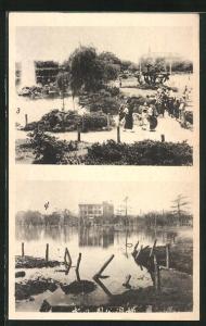 AK Yokohama, Überschwemmung nach einem Erdbeben