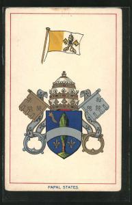AK Wappen & Fahne Papal States