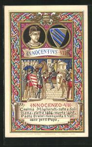 Lithographie Papst Innocentius VII., Cosimo Migliorati