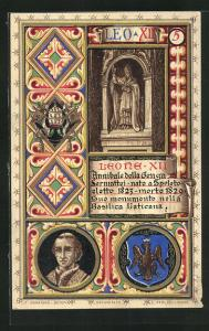 Lithographie Papst Leo XII., Annibale della Genga Sermattei 1823-1829