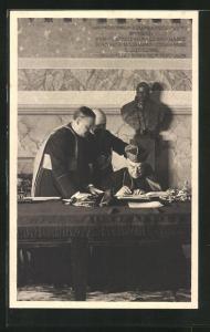 AK La firma del Trattato di Conciliazione tra la Santa Sede e il Governo Italiano, Cardinale Pietro Gasparri