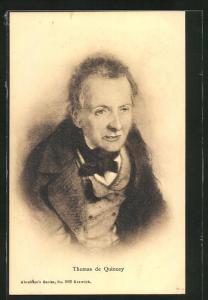 Künstler-AK Portrait Thomas de Quincey